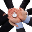 Group Of Businesspeople Holding Stopwatch — Stock Photo