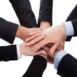 Business People Stacking Hand Over Each Other — Stock Photo #28063119
