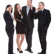 Стоковое фото: Group Of Businesspeople Gossiping
