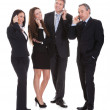 Group Of Businesspeople Gossiping — Stock Photo