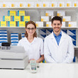 Two Pharmacist In Pharmacy — Stock Photo