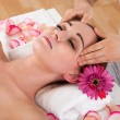 Woman getting spa treatment — Stock Photo