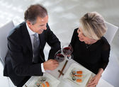Mature Couple Toasting Wine — Stock fotografie