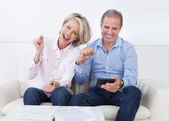 Portrait Of A Couple Enjoying Success — Stock Photo