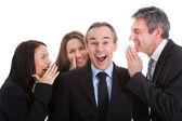 Grupo de empresários fofocando — Foto Stock