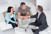 Couple Meeting Consultant — Stock Photo