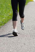 Portrait Of Young Woman Jogging — Stock Photo