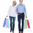 Mature Couple Holding Shopping Bags — Stok fotoğraf #28608371