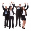 Happy Businesspeople Jumping In Joy — Stock Photo