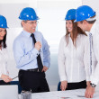 Group Of Happy Architects — Stock Photo