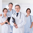 Male Doctor In Front Of Team — Stock Photo
