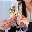 Businesspeople Toasting Champagne — Stock Photo