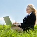 Businesswoman Using Laptop — Stock Photo #28608661