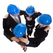 Happy Architects Making Huddle — Stock Photo