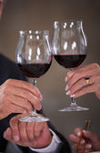 Mature Couple Toasting Wine — Stock Photo