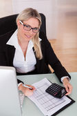 Businesswoman Working In Office — Foto Stock