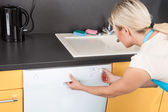 Woman Closing Dishwasher — Stock Photo