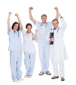 Group Of Happy Excited Doctors — Stock Photo