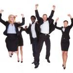 heureux groupe multiraciale de gens d'affaires — Photo