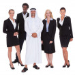 Arabic Man Standing With Businesspeople — Foto Stock