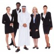 Arabic Man Standing With Businesspeople — Lizenzfreies Foto