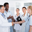 Group Of Happy Multiracial Doctors — Stock Photo