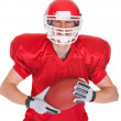 Stock Photo: Portrait Of Young American Football Player