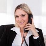 Happy businesswoman talking on telephone — Stock Photo #29295733