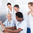 Group Of Doctors Working Together — Stock Photo #29295891