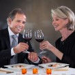 Mature Couple Toasting Wine — Stock Photo #29296039