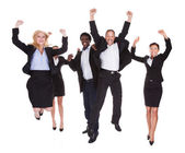 Happy Multi-racial Group Of Business People — Stock Photo