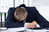 Businessman Sleeping In Office — Stok fotoğraf