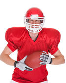 Portrait Of Young American Football Player — Stock Photo