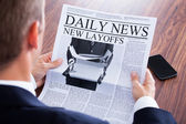 Close-up Of Businessman Reading News — Stock Photo