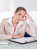 Stressful business woman — Stock Photo