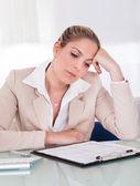Stressful business woman — Stock Photo