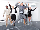 Happy Multiracial Businesspeople — Stock Photo