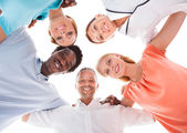 Group Of People With Head Together — Stock Photo