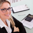 Businesswoman Working In Office — Stock Photo