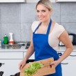 Young Woman Preparing Food — Stock Photo