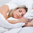 Young beautiful woman sleeping — Stock Photo #29749345