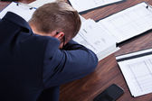 Businessman Sleeping In Office — Stock Photo