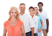 Group Of Multi-ethnic People Standing In A Row — Foto Stock