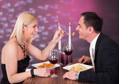 Affectionate Couple In Restaurant — Stockfoto