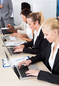 Group Of Businesspeople Working Together — Stock Photo