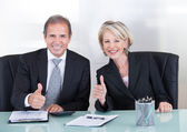 Businesspeople Showing Thump Up Sign — Stock Photo