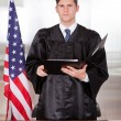 Male Judge In Courtroom — Stock Photo