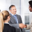 Multiethnic Businesspeople Shaking Hand — Stock Photo
