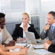 Group Of Businesspeople Discussing Together — Stock Photo