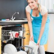 Woman Putting Dishes In The Dishwasher — Stock Photo #30373781
